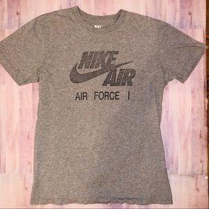 NIKE Air Force One I T shirt grey slim fit VSCO